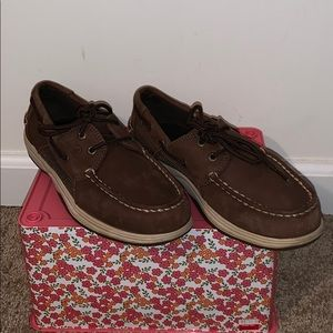 Boy's Leather Sperry Top Siders Shoes NEW Size 4M